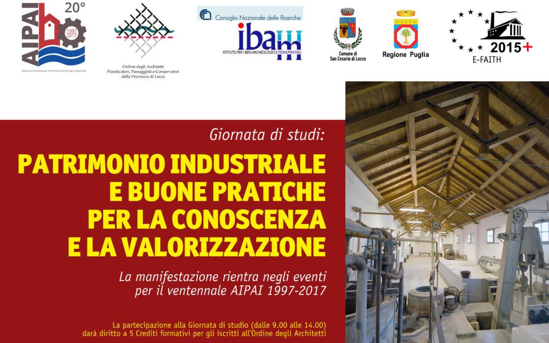 patrimonio industriale e buone pratiche per la conoscenza e la valorizzazione