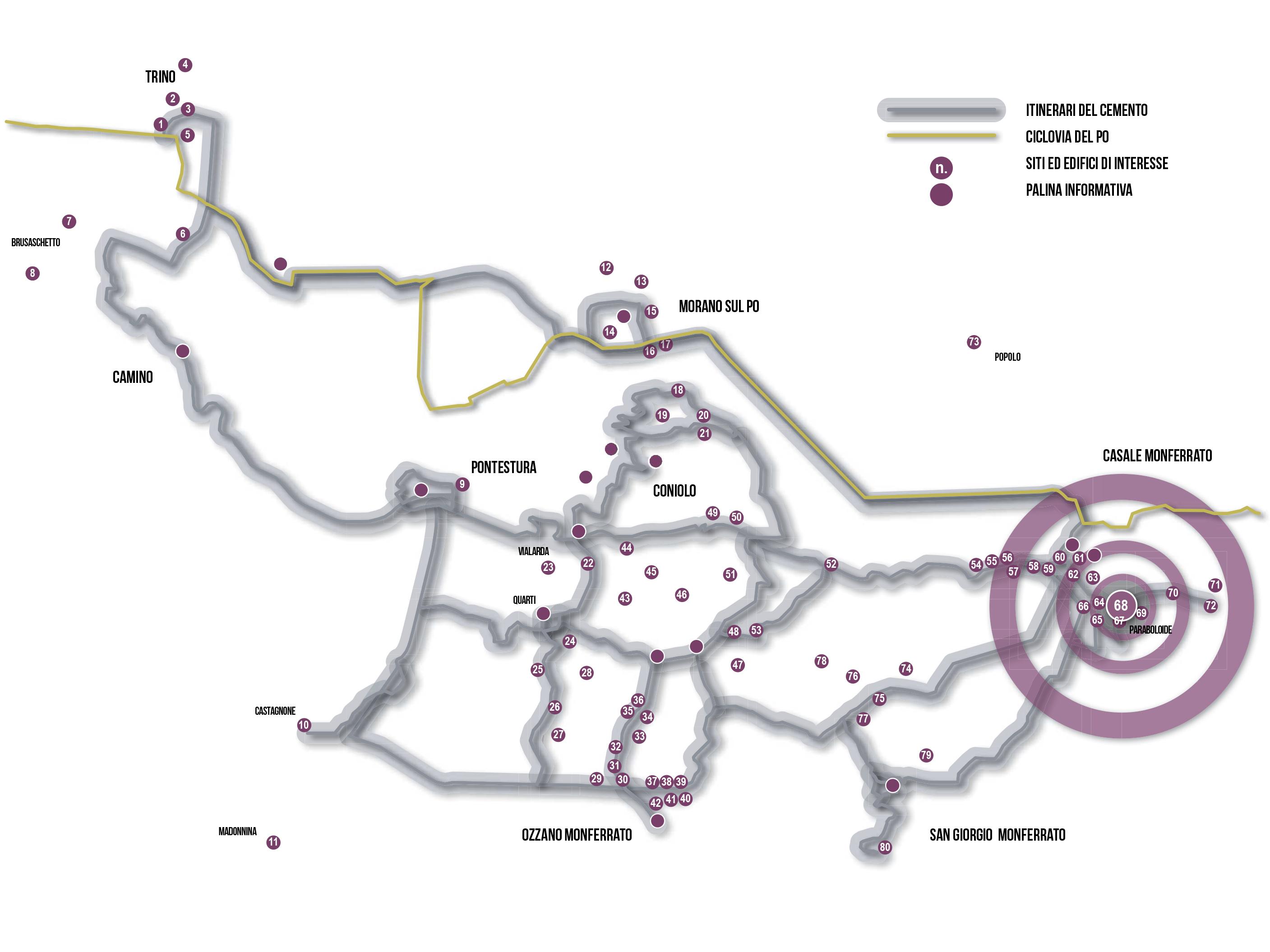 CASALESE_mappa itinerari