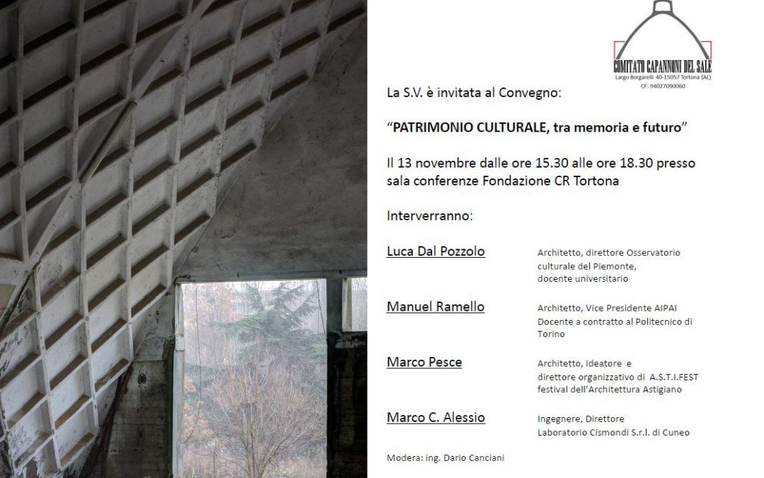 Incontro Patrimonio Culturale tra memoria e futuro a Tortona (AL)