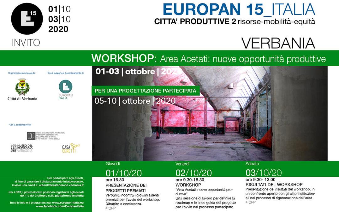 A Verbania il workshop di Europan 15 Città produttive