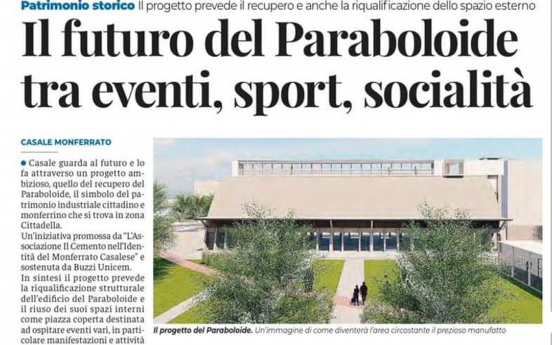 Il progetto per il Paraboloide di Casale Monferrato raccontato su Il Monferrato